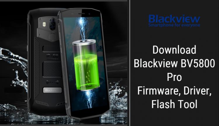 Blackview BV5800 Pro Stock Firmware