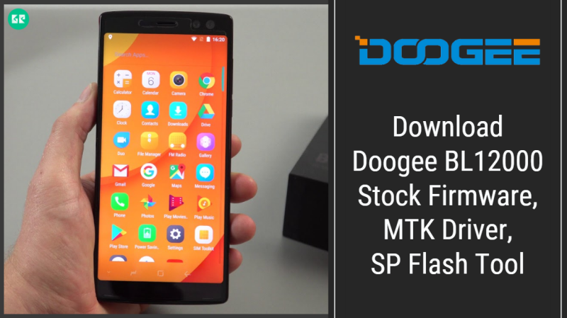 Doogee BL12000 Firmware With SP Flash Tool And Driver