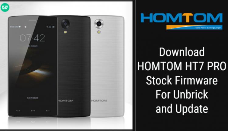 HOMTOM HT7 PRO Stock Firmware