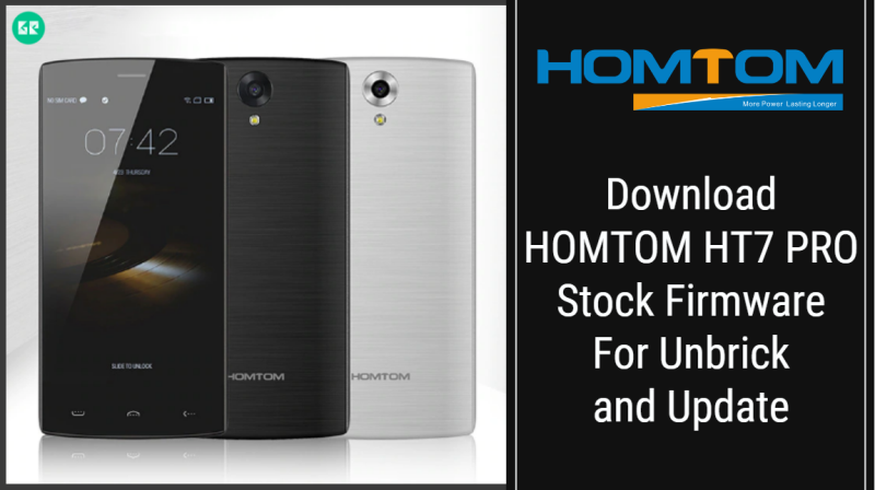 HOMTOM HT7 PRO Stock Firmware For Unbrick and Update