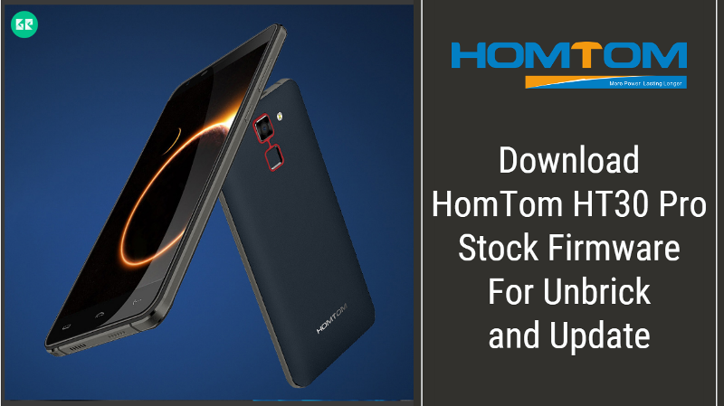 HomTom HT30 Pro Stock Firmware