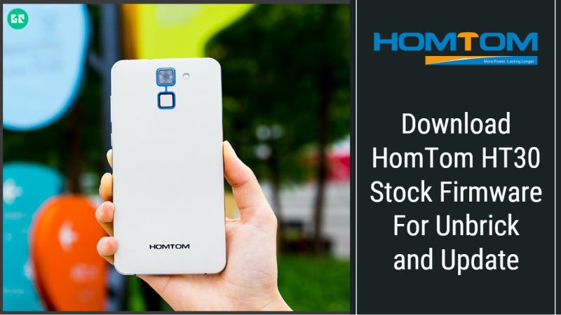 HomTom HT30 Stock Firmware