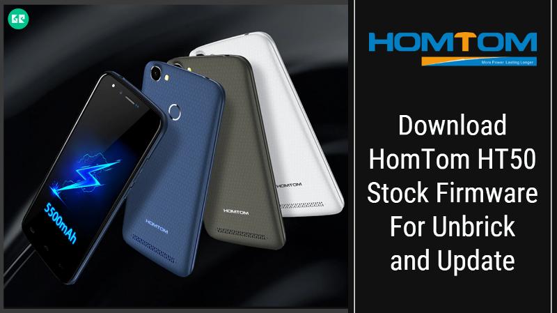 HomTom HT50 Stock Firmware