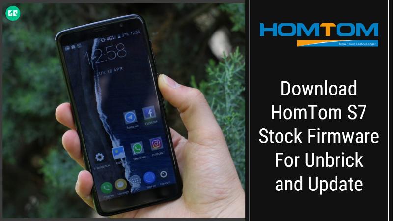 HomTom S7 Stock Firmware