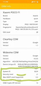 Xiaomi POCO F1 Widevine L1 gizrom 144x300 - Xiaomi POCO F1 gets Widevine L1 support in the latest MIUI beta update