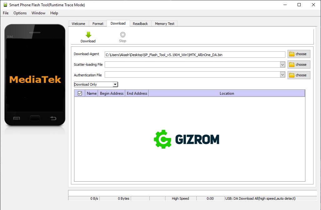 Flash Stock ROM using Smart Phone Flash Tool