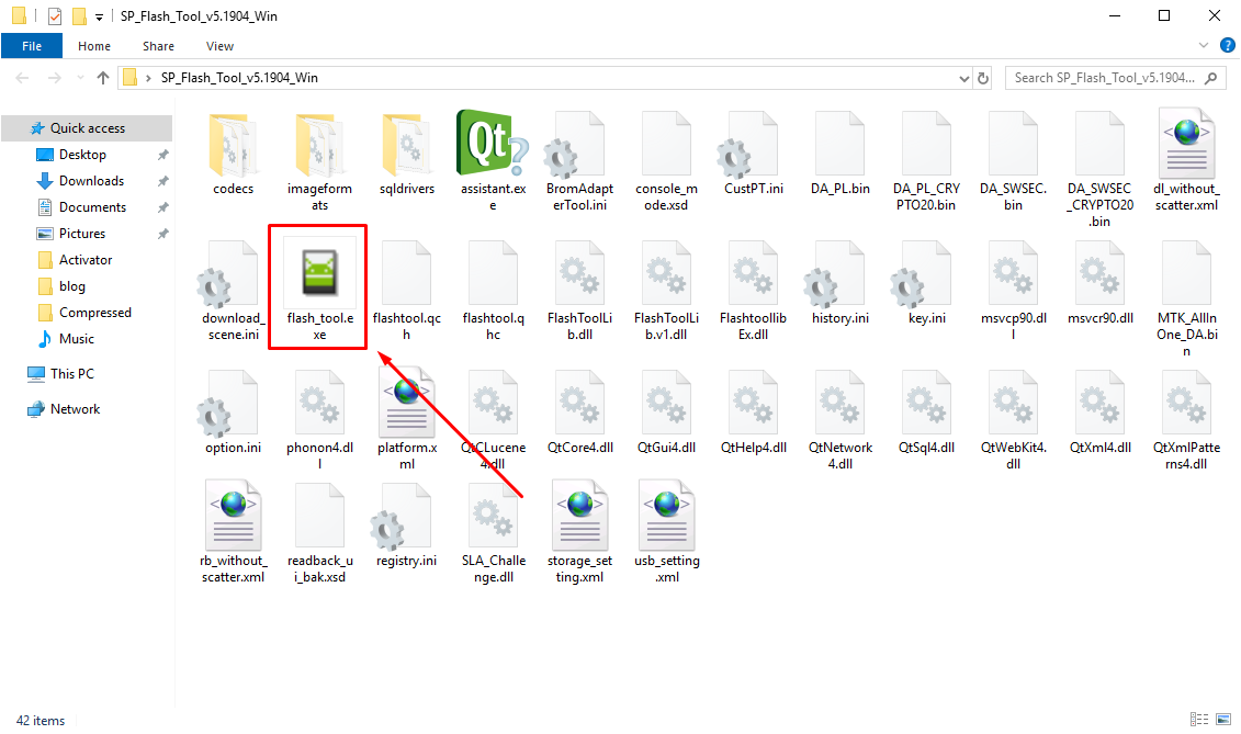 SP Flash Tool exe file - Guide To Flash Stock ROM using Smart Phone Flash Tool (SP Flash Tool)